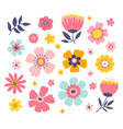 flowers and floral elements spring vector image