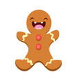 ginger man cheerful christmas card vector image vector image