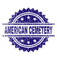 grunge textured american cemetery stamp seal vector image