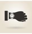 Hand Wristwatch vector image vector image