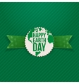 Happy Earth Day Holiday Banner and green Ribbon vector image