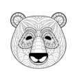 head panda in entangle style freehand sketch vector image vector image