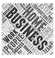 Honest Home Based Business Review Word Cloud vector image vector image
