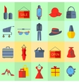 Icons sale items men womens clothing vector image vector image