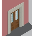 Isometric entrance vector image vector image