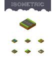 isometric road set of underground turning vector image vector image