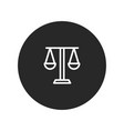 law scale icon vector image