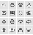 line printer icon set vector image vector image