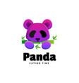 logo panda gradient colorful style vector image vector image