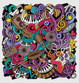 music hand drawn doodles vector image vector image