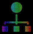 rainbow colored dot hierarchy icon vector image vector image