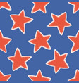 red blue star texture seamless pattern vector image