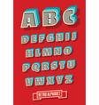 retro type font vintage alphabet vector image vector image