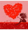 retro valentine fairy vector image vector image