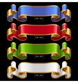 Ribbons set 13 vector image vector image
