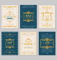 royal wedding design card templates vector image vector image