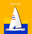 sailing sport poster vector image