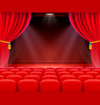 scene cinema background art performance on stage vector image vector image