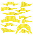 set of yellow ribbons vector image