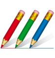 Short pencils vector image