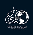 sign in form a stethoscope in shape vector image