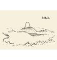 Sketch Rio De Janeiro skyline Brazil vector image vector image