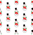 snowman pattern vector image