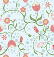 Spring is coming on blue background vector image vector image