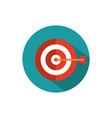 target arrow business strategy icon block shadow
