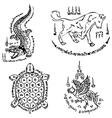 Thai Tattoo Ancient template vector image