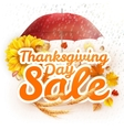 Thanksgiving Day sale EPS 10 vector image vector image