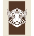 Tiger icon Animal and Ornamental predator design vector image vector image