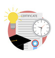 time for graduation college icon vector image vector image