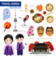 travel to korea vector image