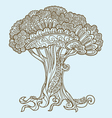 tree doodles vector image vector image