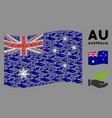 waving australia flag composition eco startup vector image vector image
