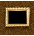 wooden vintage gold frame vector image vector image