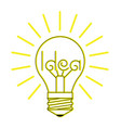 a glowing incandescent light vector image vector image