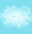 abstract blue geometric hexagons shape pattern vector image