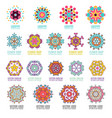 abstract kaleidoscope geometry logo template vector image vector image
