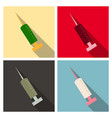 black syringe icon isolated simple vaccine sign vector image