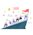 business leader concept flat people characters vector image