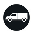 car lorry model transport vehicle block and flat vector image vector image