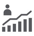 career growth glyph icon increase and diagram vector image vector image