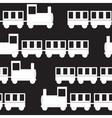 Children Train Seamless Pattern vector image vector image