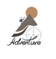 climber climbs the mountain the logo of adventure vector image