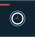 clock icon simple vector image vector image