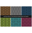 collection color seamless geometric patterns vector image vector image