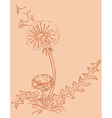 dandelion outline drawing vector image vector image