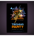Disco poster Abstract triangle background vector image vector image